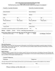 2015-16 Religious Education Program Registration Form