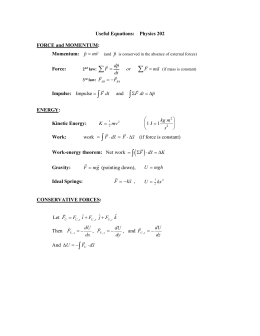MS Word file of most equations that come up in Physics 202