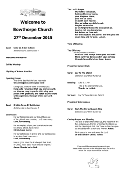Bowthorpe order of service 271215 read