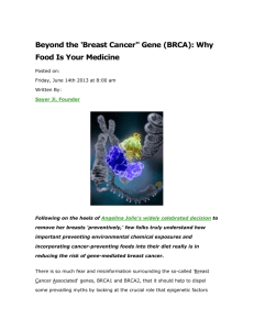 Beyond the `Breast Cancer