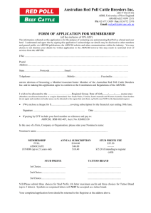form of application for membership