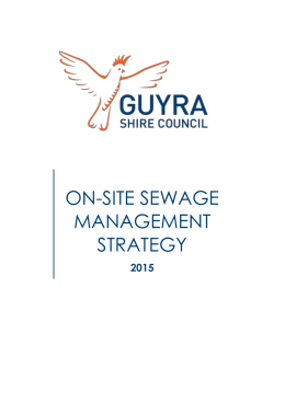 ON-SITE SEWAGE MANAGEMENT STRATEGY