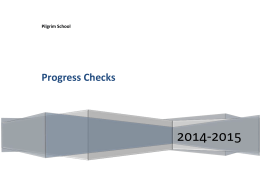 Progress Checks - The Pilgrim School