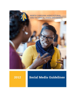 NC A&T Social Media Guidelines - North Carolina Agricultural and
