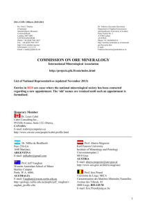 COMMISSION ON ORE MINERALOGY - GTK