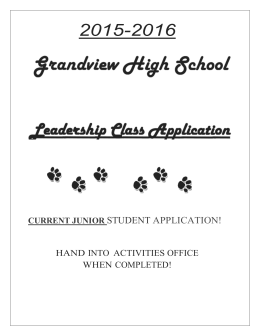 Junior leadership application