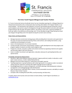 Job Posting - Youth Program Bilingual Lead Teacher