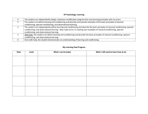 2nd Quarter Learning Goals, Scales, and Rubrics