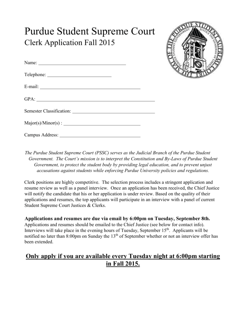 Apply Now - Purdue Student Government