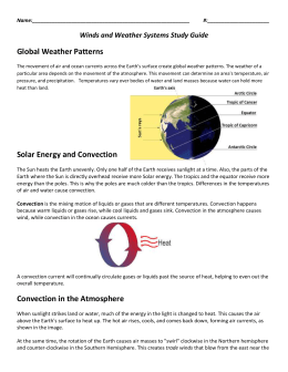 Winds and Weather Systems Study Guide