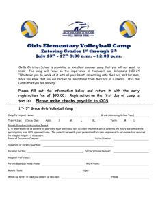 Elementary Girls Volleyball Camp 2015
