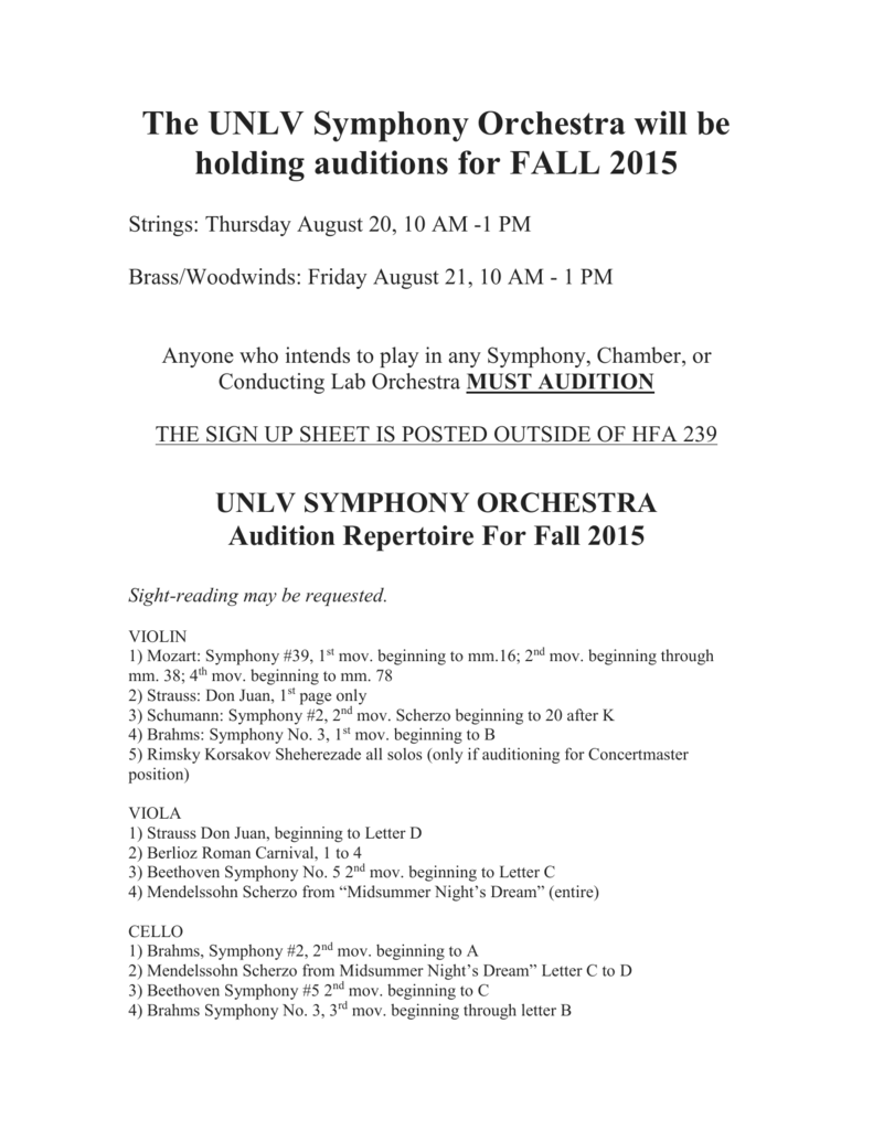 Audition Flier