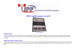 Course Costs - European Powerlifting Federation