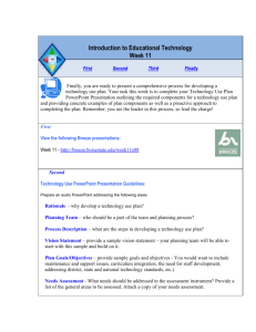 Introduction to Educational Technology