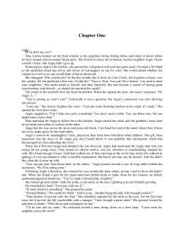 Excerpt Chapter One