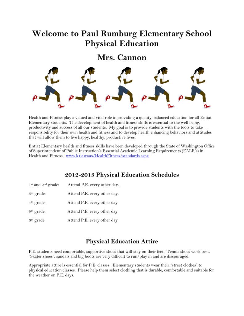 Elementary Physical Education Syllabus