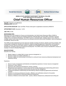 Chief Human Resources Officer