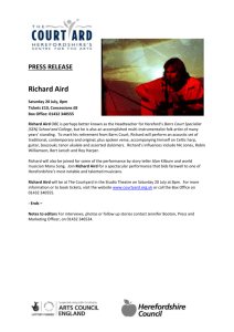 PRESS RELEASE Richard Aird