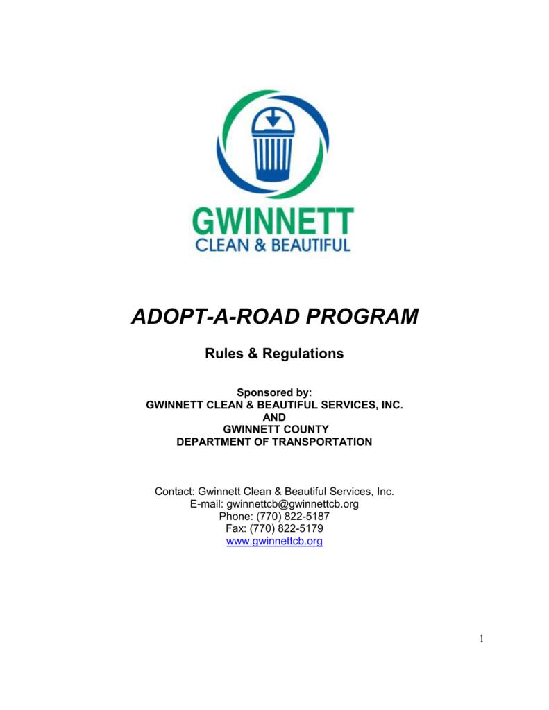 Individual Registration Form - Gwinnett Clean and Beautiful