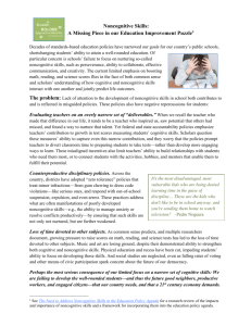 a 2-page BBA brief - Broader, BOLDER Approach to Education