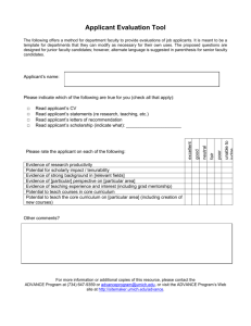 Applicant Evaluation Tool