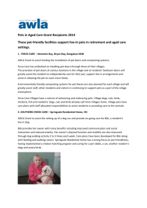 Pets in Aged Care Grants - Positive Ageing in the Company of Animals