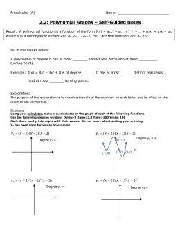 2.2: Polynomial Graphs – Self