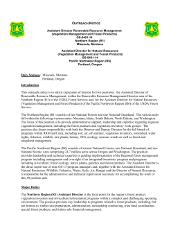 Outreach Notice Assistant Director Renewable Resource