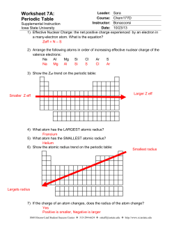 Atomic radius trends in the periodic table chemistry september 11 2014 worksheet 7a answers iowa state university urtaz Images