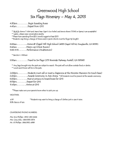 Greenwood High School Six Flags Itinerary – May 4, 2013