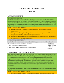 Handout: ELL Specific Supports In Action