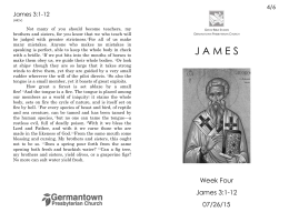 Week Four: James 3:1-12