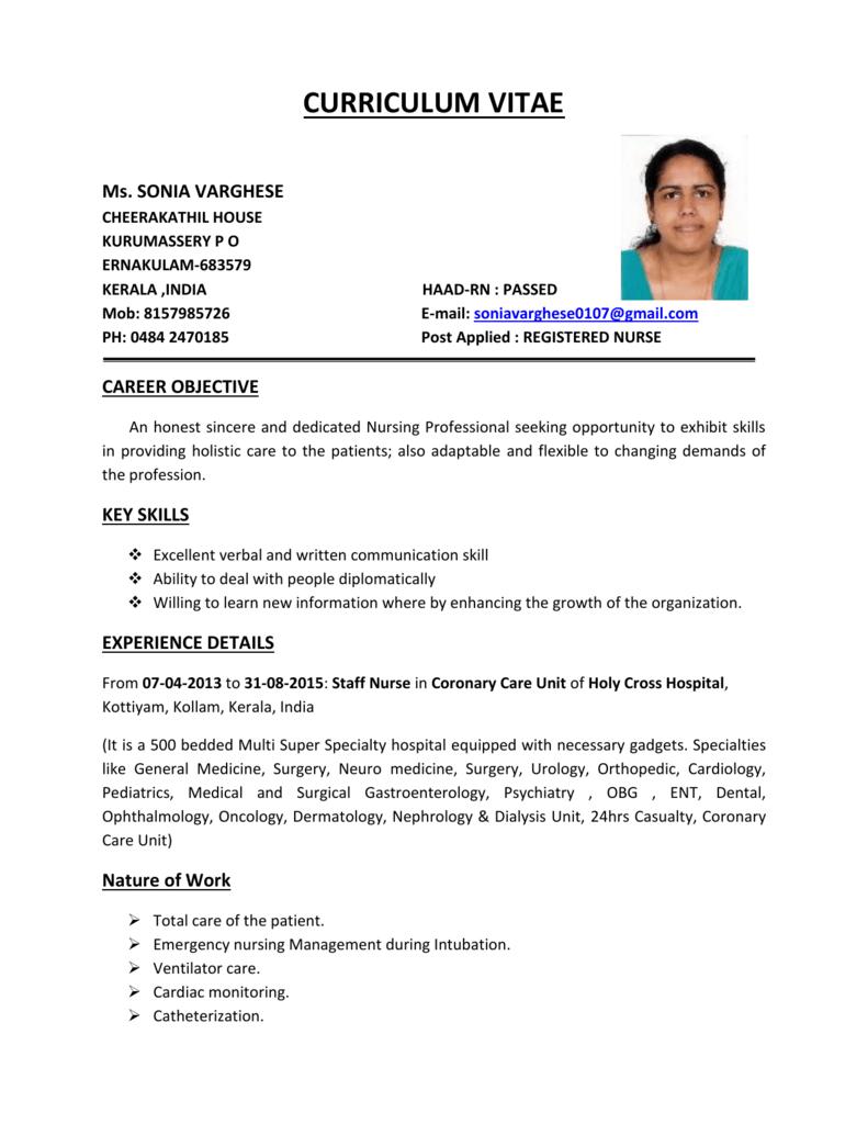 Curriculum Vitae 1 Belhoul Speciality Hospital