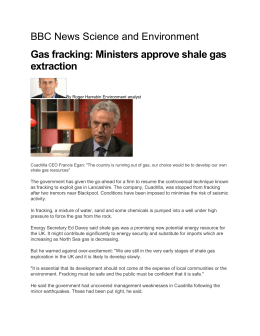 Ministers approve shale gas extraction