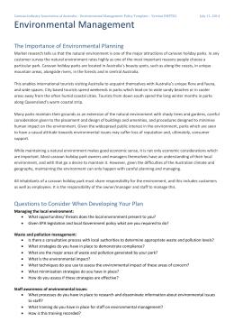 crva risk management policy template version rmpt01 environmental management caravan industry association