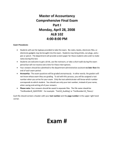 Spring 2008 Comp Exam Part I ()
