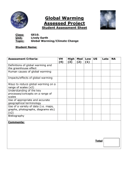 How To Write Science Essay Assessment Criteria For Global Warming Booklet High School Persuasive Essay also Simple Essays In English Global Warming Writing Assignment Essay Paper Help