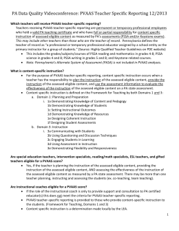 Teacher Specific Reporting Handout