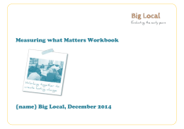 Measuring what matters workbook