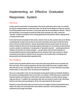 Implementing an Effective Graduated Responses System