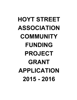 hoyt street association community funding project grant application