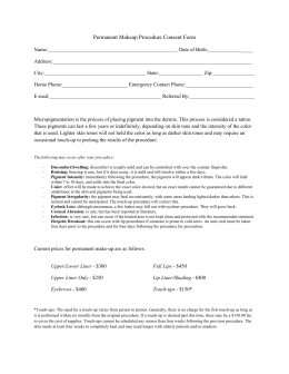 Permanent Make Up Consent Form