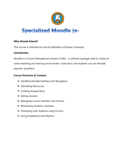 Specialized Moodle (e