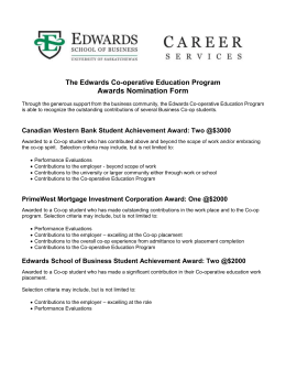 Awards Nomination Form - Edwards School of Business