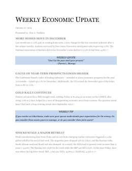 weekly economic update - Connecticut Capital Management Group