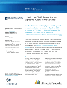 WriteImage CSB University Uses CRM Software to