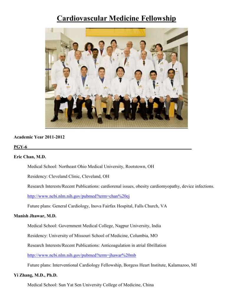 Cardiovascular Medicine Fellowship