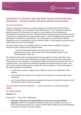 Family Inclusion Network Victoria Inc. submission for State Family