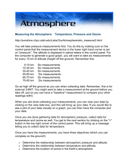 Measuring the Atmosphere pressure temp ozone online lab directions