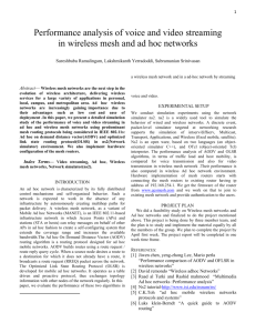 Performance analysis of voice and video streaming in wireless mesh